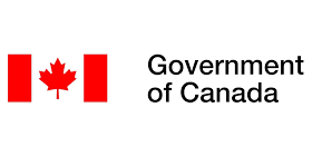 Canadian flag on the left with the words Government of Canada on the right